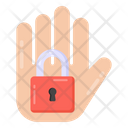 Security Hand Protection Hand Hand Lock Icon