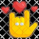 Hand Love Heart Romantic Icon