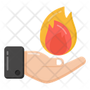 Fire Magic Hand Magic Fire On Hand Icon