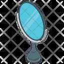 Vintage Mirror Hand Mirror Salon Equipment Icon