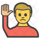 Hand Raise Male Icon