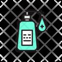 Covid Hand Sanitizer Virus Icon
