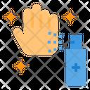 Alcohol Spray Hand Icon