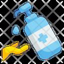 Hand Sanitizer Alcohol Gel Antiseptic Icon
