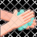 Cleaning Coronavirus Hands Icon