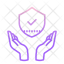 Hand Security Approved Security Shield Shield Icon