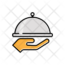 Hand Serving Food Icon