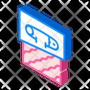 Pin Fabric Isometric Icon