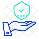 Hand Shield Approved Security Shield Shield Icon