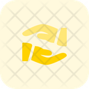 Hand To Hand Care Protection Icon