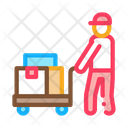Courier Trolley Wheels Icon