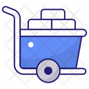 Hand Trolley Cart Delivery Icon
