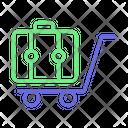 Hand Trolley Hotel Trolley Luggage Trolley Icon