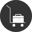 Hand Trolley Delivery Export Icon