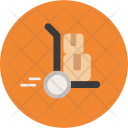 Hand Truck Bocx Parcel Icon