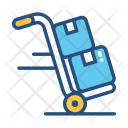 Delivery Package Hand Truck Icon