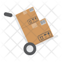 Cardboard Dolly Delivery Icon