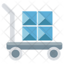 Hand Trolley Hand Truck Luggage Cart Icon