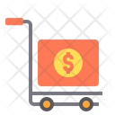 Cart Logistic Hand Truck Suitcase Icon