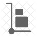 Hand Truck Delivery Shipment Icon