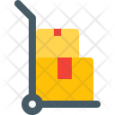 Hand Truck Boxes Icon