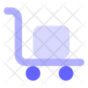 Hand Truck Parcel Loading Icon