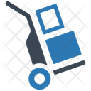 Boxes Hand Truck Logistics Icon