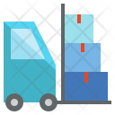 Hand Truck Cargo Freight Icon