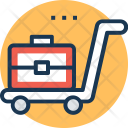 Luggage Cart Hand Icon
