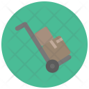 Hand Truck Moving Parcel Icon
