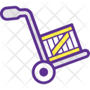 Moving Trolley Box Icon