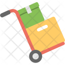 Hand Truck Warehouse Icon