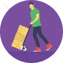 Hand Truck Trolley Icon