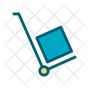 Hand Truck Box Cart Shop Icon
