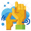 Cleaning Hand Finger Icon