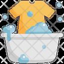 Hand Washing Laundry Icon