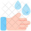 Wash Hand Water Drop Icon