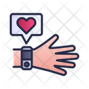 Smart Watch Hand Heart Rate Icon