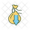 Hand With Bag Icon