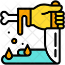 Hand Knife Zombie Icon