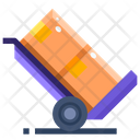 Handcart Trolley Baggage Cart Icon