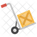 Pushcart Trolley Luggage Cart Icon
