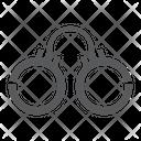 Handcuffs Chain Lock Icon