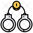 Penalty Bail Handcuffs Icon