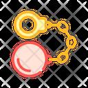 Handcuffs Core Color Icon