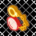 Handcuffs Core Isometric Icon