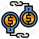 Handcuffs Financial Crime Illegal Icon