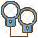 Handcuffs Shackle Arrest Icon