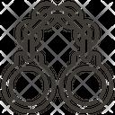 Handcuffs Prision Policeman Icon