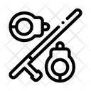Handcuffs Bats Strike Icon